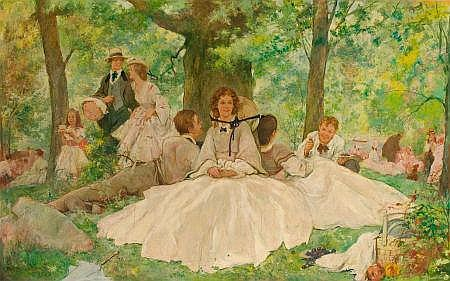 THOMAS FOGARTY (American, 1873-1938) A Summer Picnic, 1