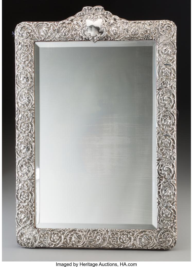 A Henry Matthews Silver Mirror Frame Birmingham England 1