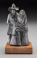 Allan Houser, Apache (1914 - 1994) The Family   bronze