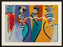 Dan Namingha, Hopi (b. 1950) Ceremonial Dance, Series V