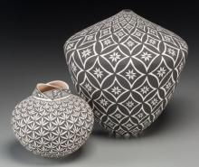 Two Acoma Black-On-White Jars Shana Garcia-Rustin and D