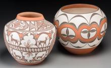 Two Southwest Polychrome Jars  Noreen Simplicio and Gla