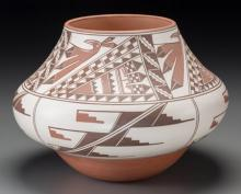 A Hopi Polychrome Jar Les Namingha c. 1998   clay, pain