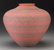 A Wyandotte Red and Black Jar Richard Zane Smith c. 199