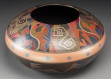 A Hopi Polychrome Jar Les Namingha c. 2005   clay, pain