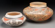 Two Hopi Polychrome Jars Helen Naha and Elva Nampeyo c.