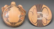 Two Hopi Polychrome Pottery Items Jean Sahmie and Jacob