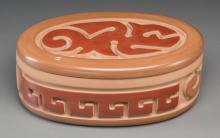 A Santa Clara Polychrome Lidded Jar Nathan Youngblood c