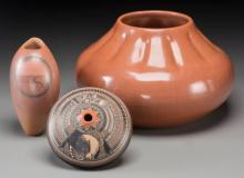 Three Southwest Pottery Jars Jacob Koopee, Bob Lansing,