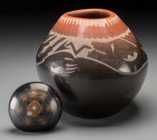 Two Southwest Blackware Items Barbara Gonzales and Samm