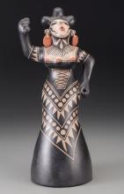 A Cochiti Polychrome Figure  Virgil Ortiz c. 2004   cla