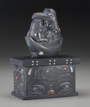 A Haida Carved Argillite Box  Christian White c. 2001