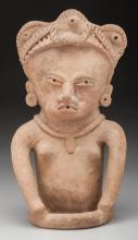 A Large Vera Cruz Seated Female Figure c. 600 - 900 AD