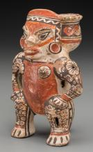 A Nicoya Figure with Bowl on Back c. 600 - 1000 AD    T