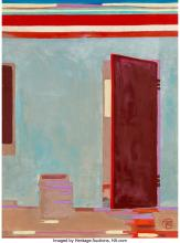 Françoise Gilot (French, b. 1921) Half-opened door in India, 1982 Oil on canvas