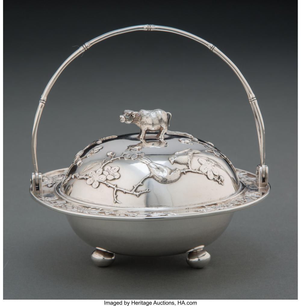 A Tai Chang Long Chinese Export Silver Covered Basket, Hong Kong, early 20th cen