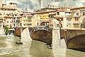 DONALD TEAGUE (American, 1897-1991) View of Ponte Vecchio  Watercolor on paper 19 x 28-1/4 inches (48.3 x 71.8 cm) Signed lower left: Donald Teague N.A.