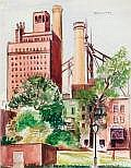 WARREN A. NEWCOMBE (American, 1894-1960) Queensboro Bridge, 1920 Watercolor on paper 17-7/8 x 14 inches (45.4 x 35.6 cm) Signed upper right: Newcombe Inscribed on verso: Warren Newcombe / Queensboro Bridge / 1920