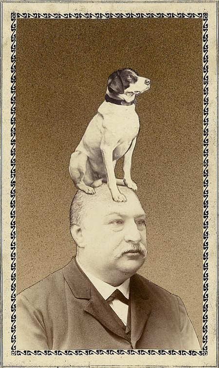BOHUMIL STEPAN (European, 1913-1985) Man with Dog