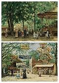 HENRICUS MATTHEUS HORRIX (Dutch, 1845-1923) A Day at the Circus, 1910 (pair) Watercolor on paper 13-1/2 x 19-1/4 inches (34.3 x 48.9 cm) each Each signed lower right: H.M. Horrix/1910 Each inscribed lower left: Opgedragen ... K Z B G
