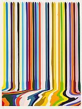 IAN DAVENPORT (British, b. 1966) Etched Lines: Thirty F