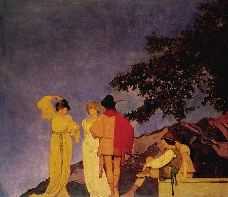 MAXFIELD PARRISH (American 1870 - 1966)