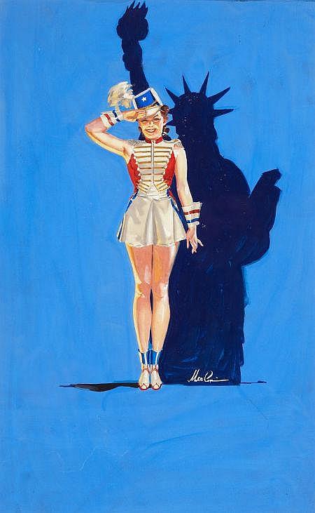 MERLIN ENABNIT (American, 1903-1979) Miss Liberty Gouac