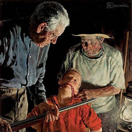 DOUGLASS CROCKWELL (American, 1904-1968) Prisoner Oil o