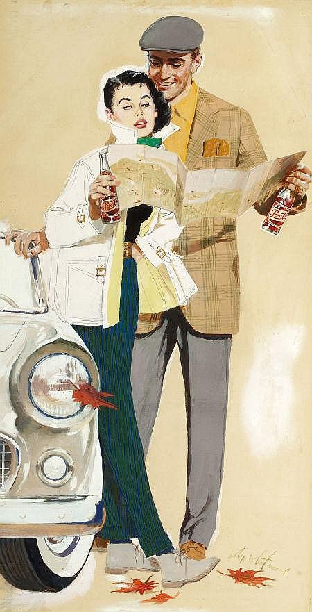 COBY WHITMORE (American, 1913-1988) Going Places with t