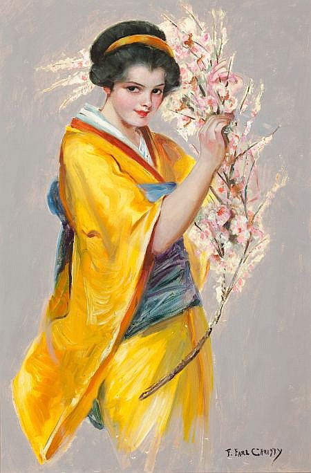 F. EARL CHRISTY (American, 1883-1961) Girl with Cherry