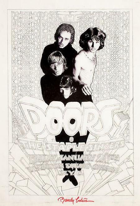 RANDY TUTEN (American, 20th Century) The Doors, One Nig