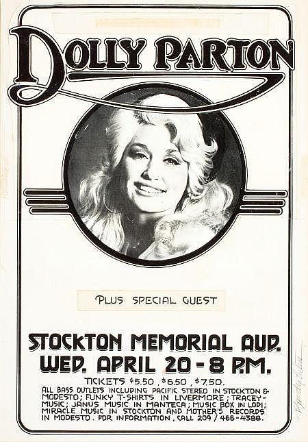 RANDY TUTEN (American, 20th Century) Dolly Parton, Stoc