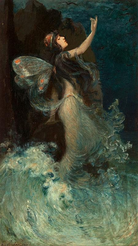 PAUL SWAN (American, 1884-1972) Water Nymph, 1907 Oil o