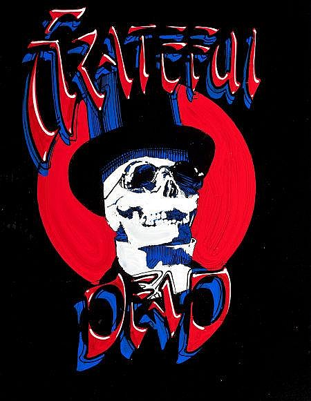RICK GRIFFIN (American, 1944-1991) Grateful Dead Skelet