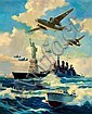 MANNING DE VILLENEUVE LEE (American, 1894-1980) New York Harbor Oil on canvas 35 x 28 in. Signed lower left   From the Estate of Charles Martignette.