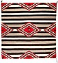 A NAVAJO CHIEF'S STYLE BLANKET c. 1940
