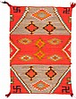 A NAVAJO TRANSITIONAL WEAVING c. 1925