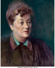 Guy Pène Du Bois (American, 1884-1958) Portrait of a Woman Oil on canvas 20 x 16