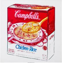 ANDY WARHOL (1928-1987) CAMPBELL'S SOUP BOX (CHICKEN RICE), 1986 SYNTHETIC POLYM