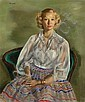 JERRY FARNSWORTH (American, 1895-1983) Portrait of Corr, Jerry Farnsworth, Click for value