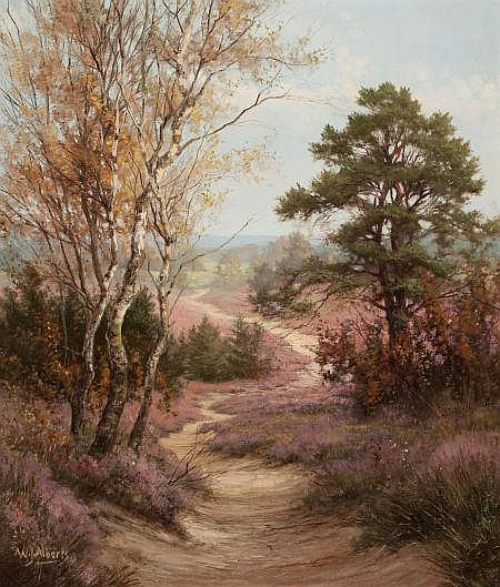 WILLEM JACOBUS ALBERTS (Dutch, 1912-1952) Autumn Landsc