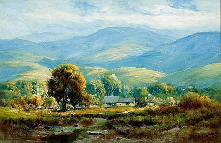 MANUEL VALENCIA (American, 1856-1935) Salinas Valley Oi