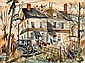 JAMES CARLIN (American, 1906-2005) House on the Corner, James Carlin, Click for value