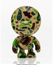 BAPE X PEPSI NEX BABY CAMO MILO (GREEN), 2001 PAINTED CAST VINYL 4-3/4 X 2-3/4 X