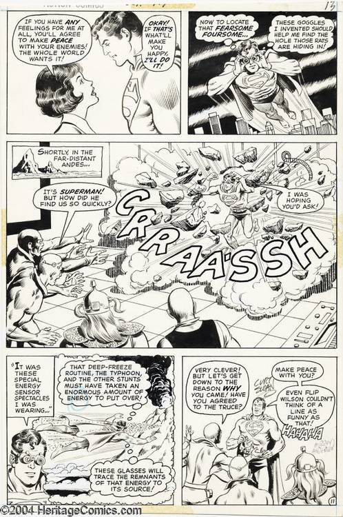 ... and Murphy Anderson - Action #417, page 11 Original Art (DC, 1972
