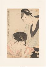 A Group of Six Japanese Woodblock Prints 14 x 9-1/4 inches (35.6 x 23.5 cm) (she