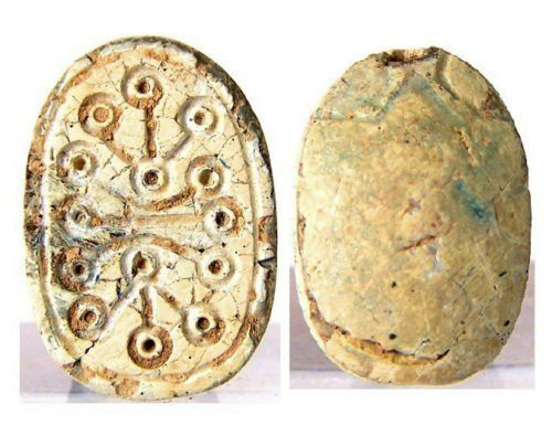 Ancient Egyptian stone Scarab