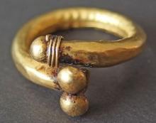 Ancient Egyptian Roman gold finger ring Phallic. RARE