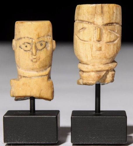 Egyptian Coptic Bone Heads Figure