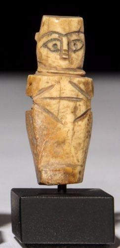 Egyptian Coptic Bone Nude Female Figure.